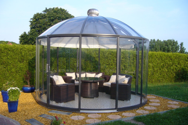 glass gazebos elite 3.94 domed roof 15