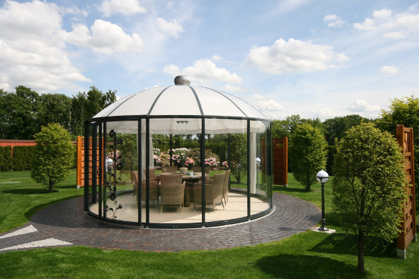 glass gazebos elite 4.62 domed roof 7