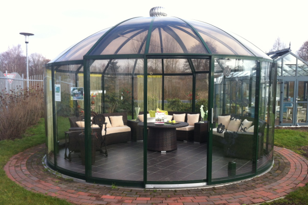 glass gazebos elite 5.28 domed roof