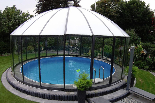 glass gazebos elite 6.57 domed roof