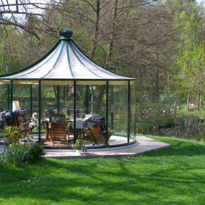 Glass Gazebos Elite 4.62 Pagoda Roof 4