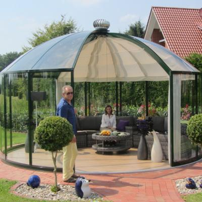 Glass Gazebos Elite 5.28 Domed Roof 1