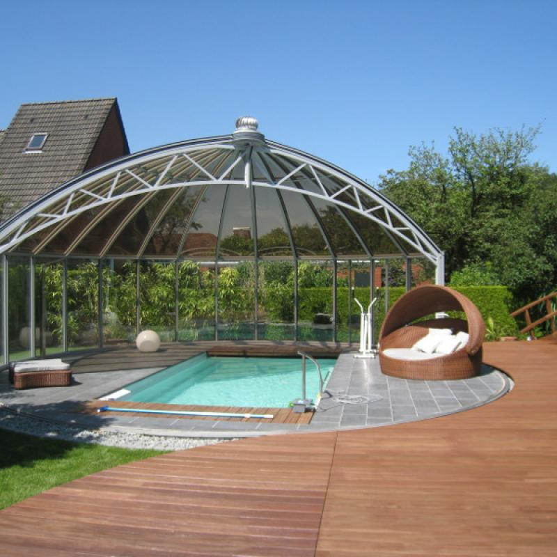 Glass Gazebos Elite 8.53 Domed Roof 1